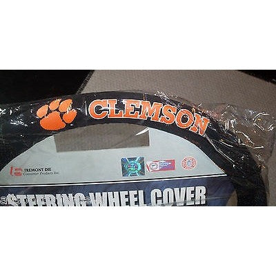 NCAA POLY-SUEDE MESH STEERING WHEEL COVER CLEMSON TIGERS