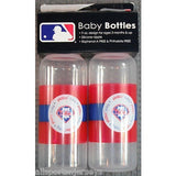 MLB Philadelphia Phillies 9 fl oz Baby Bottle 2 Pack by baby fanatic