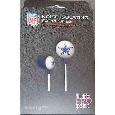 NFL iHip Team Logo Earphones Dallas Cowboys