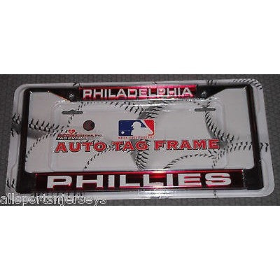 MLB Philadelphia Phillies Chrome License Plate Frame Laser Cut