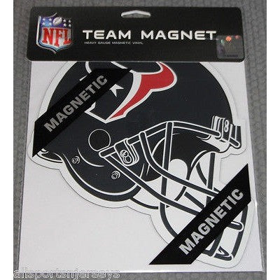 NFL Houston Texans 8 Inch Auto Magnet Die Cut Helmet by Fremont Die