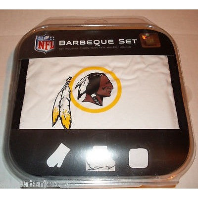 NFL Washington Redskins BBQ Tailgate Kit 3 Piece Set Apron Oven Mitt Potholder McArthur
