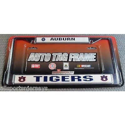 NCAA Auburn Tigers Chrome License Plate Frame Thick Letters