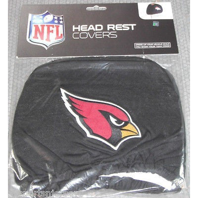 NFL Arizona Cardinals Headrest Cover Embroidered Logo Set of 2 by Team ProMark