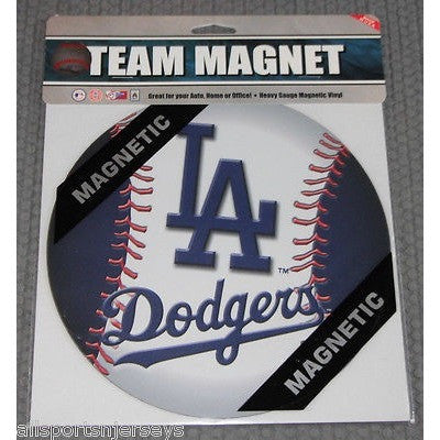 MLB Los Angeles Dodgers 8 Inch Auto Magnet 2-tone Ball by Fremont Die