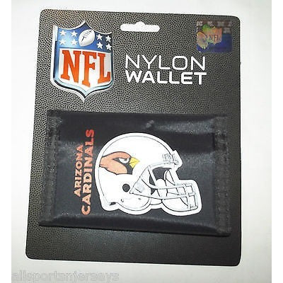 NFL Arizona Cardinals Tri-fold Nylon Wallet with Printed Logo