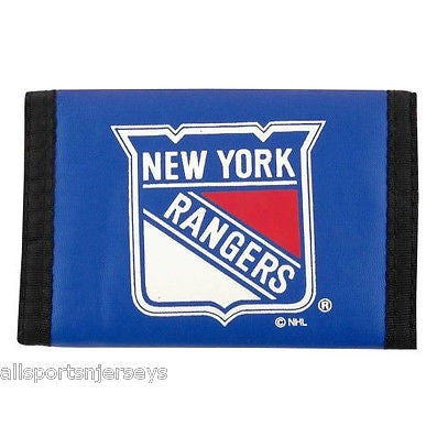 NHL New York Rangers Tri-fold Nylon Wallet with Printed Logo