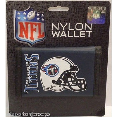 NFL Tennessee Titans Tri-fold Nylon Wallet with Printed Helmet