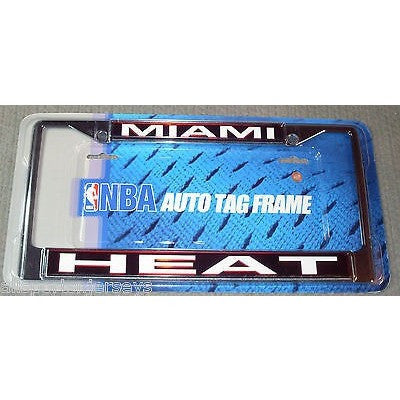 NBA MIAMI HEAT LICENSE PLATE FRAME LASER-CUT