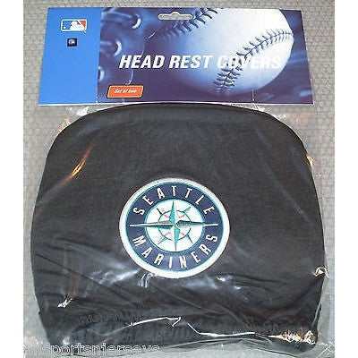 MLB Seattle Mariners Headrest Cover Embroidered Logo Set of 2 by Team ProMark