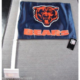 NFL Chicago Bears Logo on Blue Window Car Flag