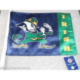 NCAA Notre Dame Fighting Irish Logo on Window Car Flag by Fremont Die