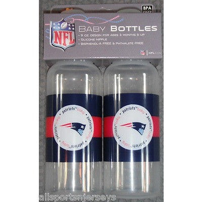 NFL New England Patriots 9 fl oz Baby Bottle 2 Pack by baby fanatic