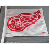 NHL Detroit Red Wings Logo White Window Car Flag RICO or Fremont Die
