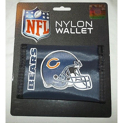 NFL Chicago Bears Tri-fold Nylon Wallet with Printed Helmet