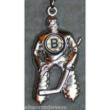 NHL Boston Bruins Hockey Player Key Chain Logo on Chest CONCORD Ind.
