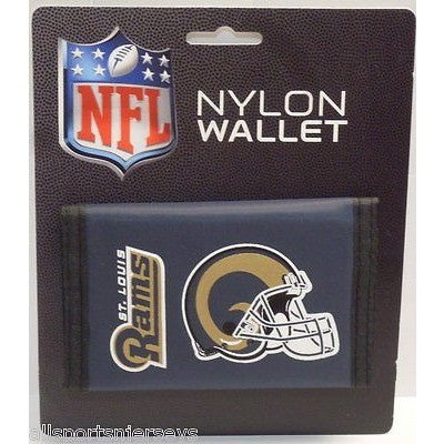 NFL St. Louis Rams Tri-fold Nylon Wallet with Printed Helmet