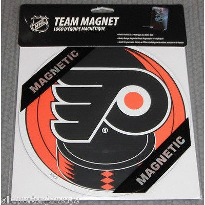 NHL Philadelphia Flyers 8 Inch Auto Magnet Logo Over Puck by Fremont Die