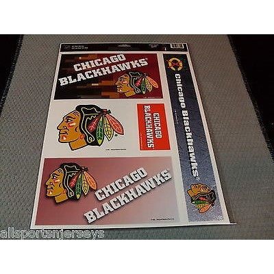 NHL Chicago Blackhawks Ultra Decals Set of 5 By WINCRAFT Black