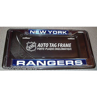NHL New York Rangers Laser Cut Chrome License Plate Frame