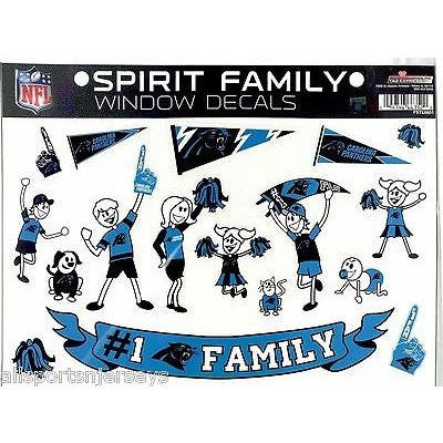 NFL Carolina Panthers Spirit Family Decals Set of 17 by Rico Industries