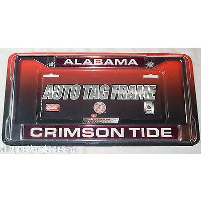 NCAA Alabama Crimson Tide Laser Cut Chrome License Plate Frame