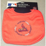 MLB ST. Louis Cardinals Embroidered Infant Baby Bibs Red 2 pack Wincraft