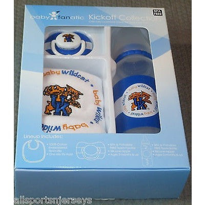 NCAA Kentucky Wildcats Gift Set Bottle Bib Pacifier by baby fanatic