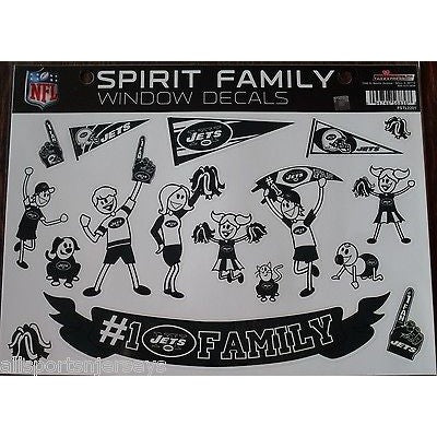 NFL New York Jets Spirit Family Decals Set of 17 by Rico Industries