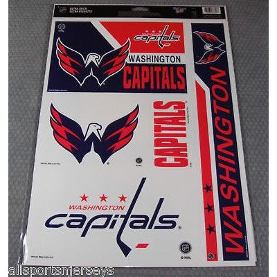 NHL Washington Capitals Ultra Decals Set of 5 By WINCRAFT Blue Side