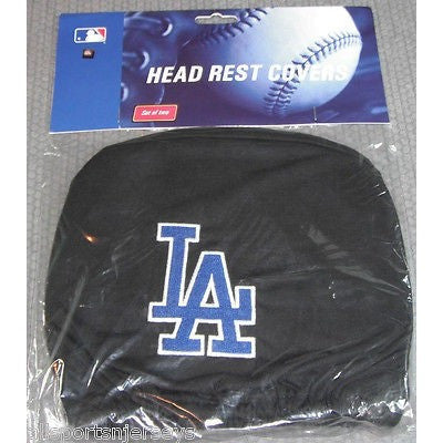 MLB Los Angeles Dodgers Headrest Cover Embroidered 2 Color Logo Set of 2 by Team ProMark
