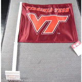 NCAA Virginia Tech Hokies Logo on Red Window Car Flag