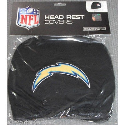 NFL San Diego Chargers Headrest Cover Embroidered Logo Set of 2 by Team ProMark