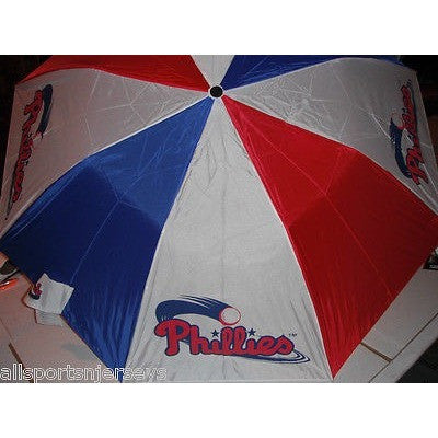 MLB Travel Umbrella Philadelphia Phillies 3 Color By McArthur For Windcraft