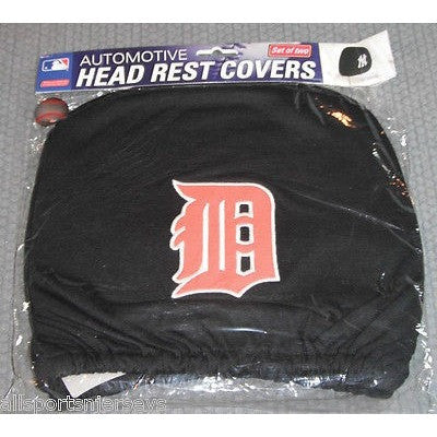 MLB Detroit Tigers Headrest Cover Embroidered Logo Set of 2 by Team ProMark