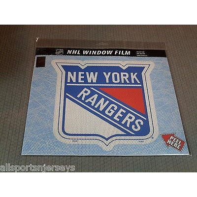 "NHL New York Rangers Die-Cut Window Film Approx. 12"" by Fremont Die"