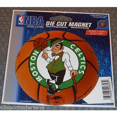 NBA Boston Celtics Logo on Basketball 4 inch Auto Magnet by WinCraft