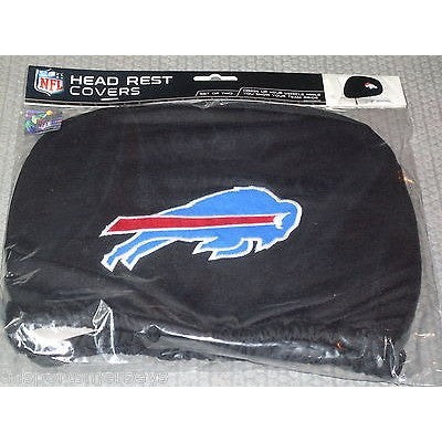 NFL Buffalo Bills Headrest Cover Embroidered Logo Set of 2 by Team ProMark