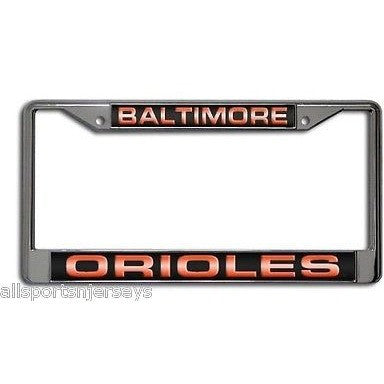 MLB Baltimore Orioles Chrome License Plate Frame Laser Cut