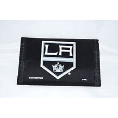 NHL Los Angeles Kings Tri-fold Nylon Wallet with Printed Logo