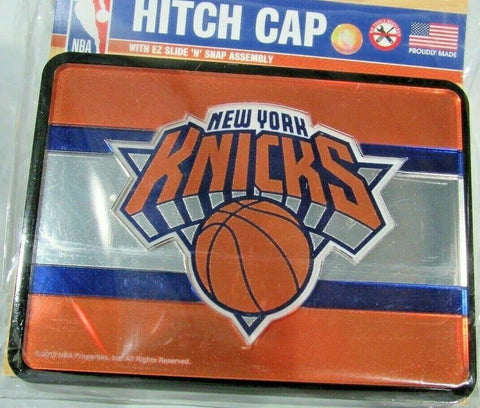 NBA New York Knicks Laser Cut Trailer Hitch Cap Cover by WinCraft
