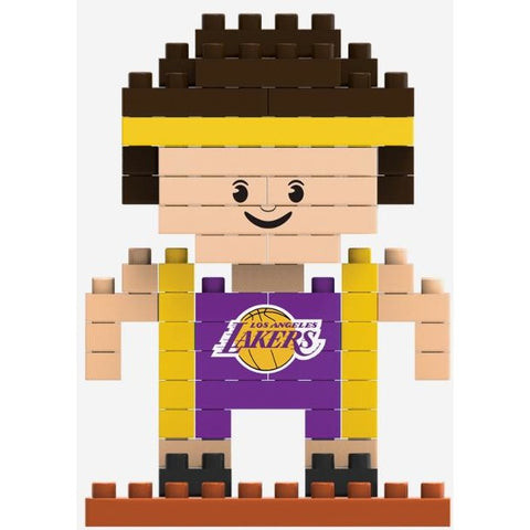 NBA Los Angeles Lakers Team Player Shaped BRXLZ 3-D Puzzle 79 Pieces