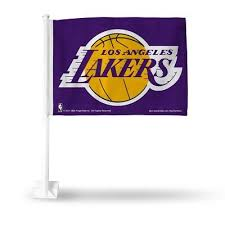 NBA Los Angeles Lakers Logo on Purple Window Car Flag by Rico Industries