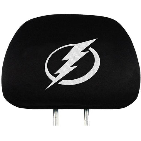 NHL Tampa Bay Lightning Headrest Cover Embroidered Logo Set of 2 by Team ProMark