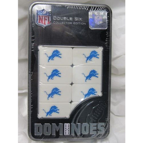 NFL Detroit Lions White Dominoes Game by Masterpieces Puzzles Co