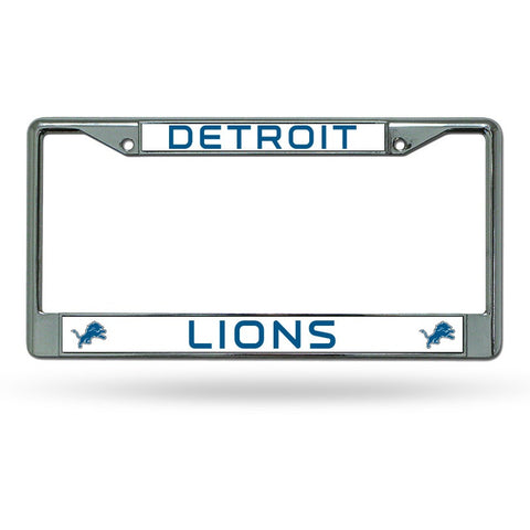 NFL Detroit Lions Chrome License Plate Frame Thin Letters
