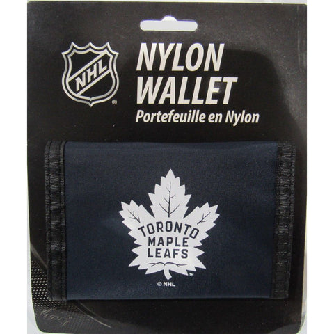 NHL Toronto Maple Leafs Tri-fold Nylon Wallet with Printed ALT Logo