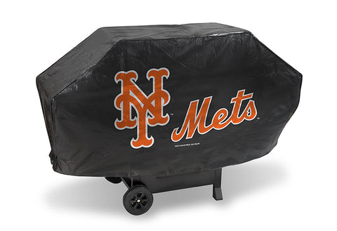 MLB New York Mets 68 Inch Deluxe Vinyl Padded Grill Cover by Rico Industries