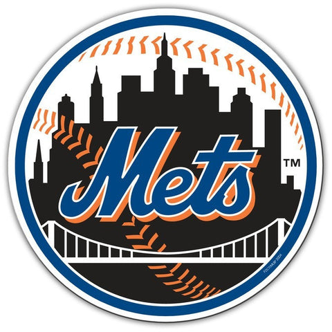 MLB 12 INCH AUTO MAGNET NEW YORK METS ALTERNATE LOGO