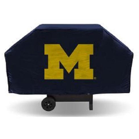NCAA Michigan Wolverines 68 Inch Vinyl Economy Gas / Charcoal Grill Cover